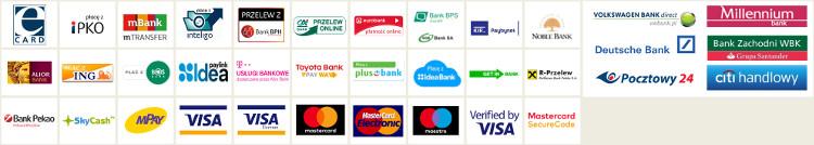 Obsługiwane płatności Ecard